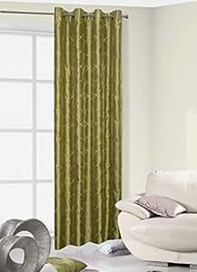 140x245 cm grün Vorhang Vorhänge Ösenschal Fensterdekoration Gardine Blickdicht green FLORYDA