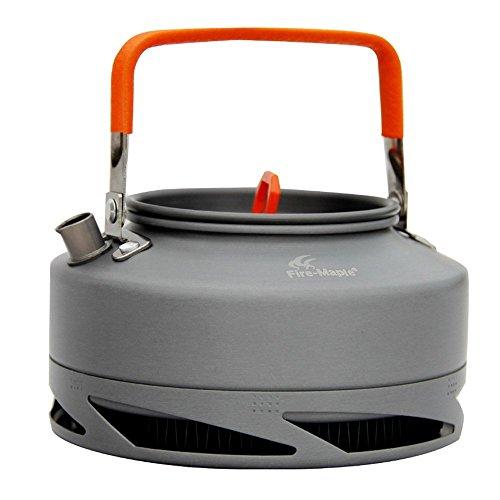 Fire-maple Portable Anodized Aluminum Heat Collecting Exchanger Kettle Tea Coffee Pot Outdoor Camping Picnic Cookware Drawstring Mesh Bag 1.5L FMC-XT2 / 0.8L FMC-XT1 (FMC-XT1 0.8L)