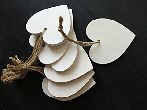 Set of 10 Love Hearts Hanging Wedding Wishing Tree Decorations