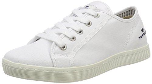 TOM TAILOR Damen 485200330 Sneaker, Weiß (White), 41 EU