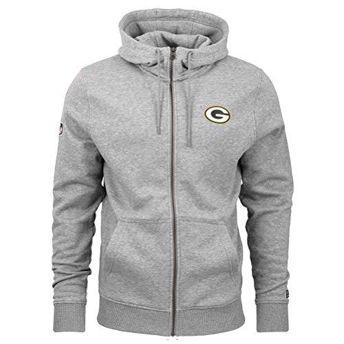 New Era - NFL Green Bay Packers Number Zip Hoodie - Grau Farbe Grau, Größe L