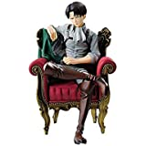 15cm Anime PVC Action Figure Toy Collection Toys Attack on Titan Rivaille Li Weier Levi Ackerman Trunk Sofa Sitting Possition