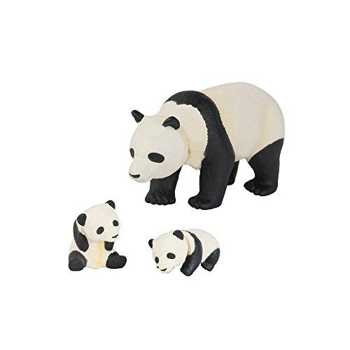 TOMY ANIA | Panda mit Babys 3er Set | Spielfiguren | Bewegliche Glieder | Hochwertiges Spielzeug für Kinder ab 3 Jahre | Tiere Spielzeug | Lernspielzeug - ideal als Geschenk