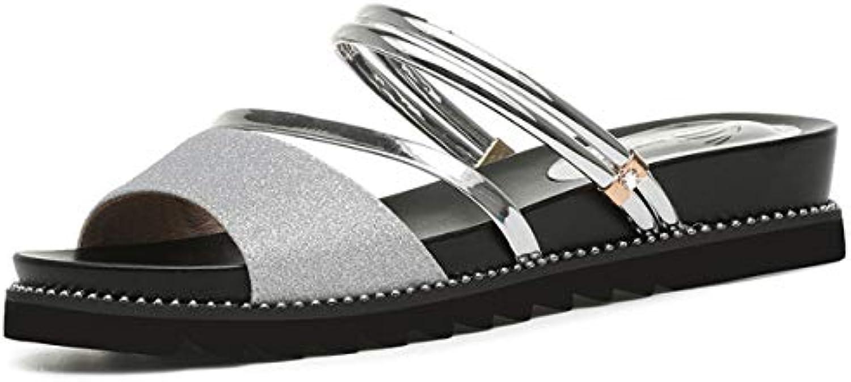 AJUNR Donna alla Moda Una Scarpa Due Due Due Indossano i Sandali Nuovi Modelli Spiaggia Gli Studenti Le Donne Incinte... | Exit  | Gentiluomo/Signora Scarpa  bb8927
