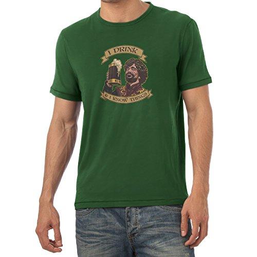 TEXLAB - I drink, and I know things - Herren T-Shirt Flaschengrün