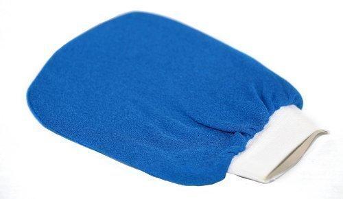 Authentischer blauer marrokanischer Hamam Peelinghandschuh, 'Kesse' 'Gant de Gommage', Spa Qualität