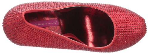 Bordello , Chaussures à talons femme Rouge - Red Satin-Red RS