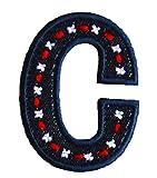 C Jean Bleu ABC majuscule 9cm pour Faire Du Bricolage Loisir Créatif Brodé de...