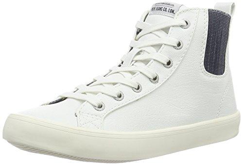 Pepe Jeans Damen Clinton Chelsea High-Top Weiß (White 800)