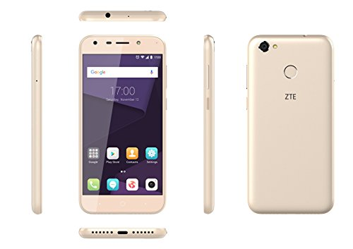 ZTE P075A60D1 A6-5.2 Zoll Smartphone (Octa-Core 1.4GHz, 2 GB RAM, 16 GB internal Memory, 16 MP Camera, Android N) Gold