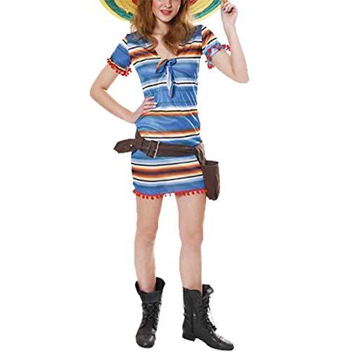 Tequila Shooter Kostüm - Islander Fashions Erwachsene Mexikanerin Tequila Kost�m