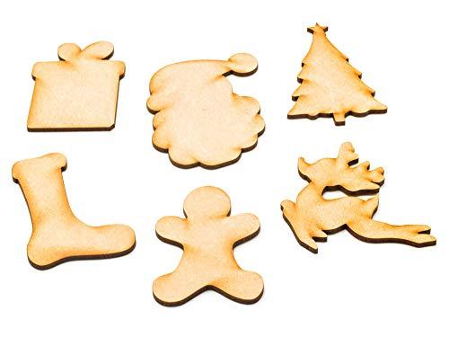 6 Weihnachtsformen zum Basteln, ideal für Kinderprojekte, Weihnachtsbaum-Geschenk, Rudolf Strumpf, Lebkuchenmann