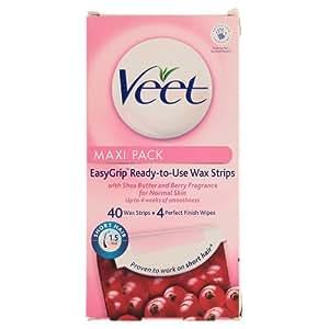 Veet Wax Strips for Normal Skin - 40 Strips
