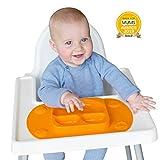 EasyMat - Plato portátil con Ventosas para Bebé - Color Naranja