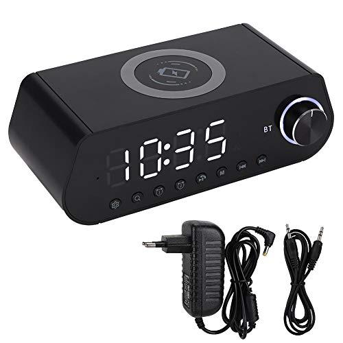 BTIHCEUOT Mini Wireless Bluetooth Lautsprecher, Leadstar MX-23 LED Zeitanzeige Wireless Fast Charger Bluetooth Lautsprecher(Weiß) (Player-kostenlos Mx)