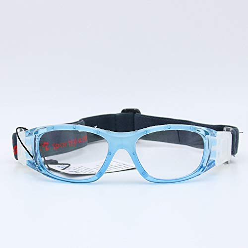 Yangjing-hl Sonnenbrille Basketball Brille Schutzbrille Badminton Tennis Sport Rahmen blau