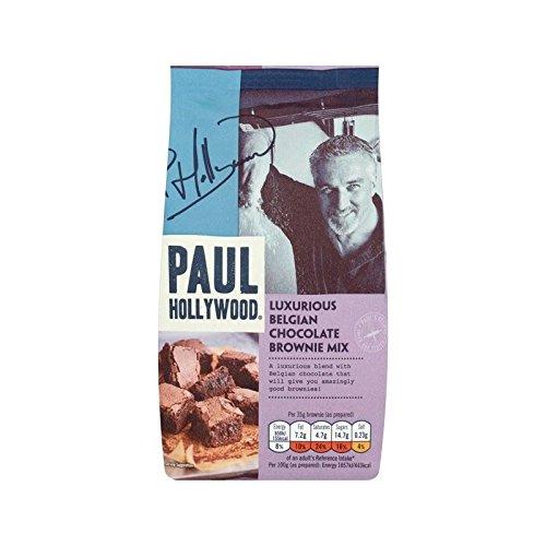 Paul Hollywood Luxus Belgischer Schokolade Brownie-Mix 480G - Packung mit 4