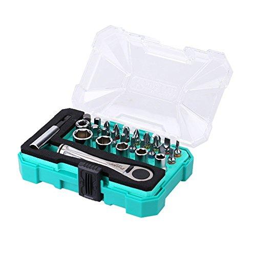 Proskit sd-2318m Ratchet socket set di cacciaviti di precisione portatile professionale chiave driver socket set 27PCS