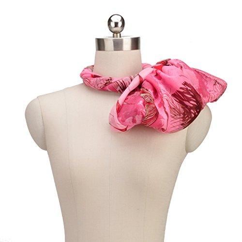 Fête des Mères grand foulard écharpe paréo floral multicolore Rouge