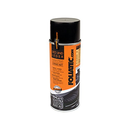 Foliatec F2402 Seat und Leather Color Spray, 1 x 400 ml, Schwarz/Matt