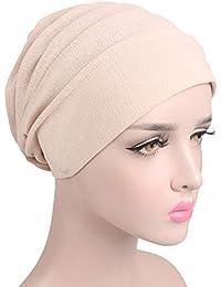 Yalatan Cappello da donna Cappello a turbante con cappuccio in tinta unita  a cuffia di protezione 76a4ac599d61