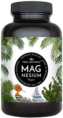 Magnesium Kapseln - 365 Stück (1 Jahr). 664mg je Kapsel, davon 400mg ELEMENTARES (reines) Magnesium - höherer Gehalt als Magnesiumcitrat. Laborgeprüft, hochdosiert. Vegan, hergestellt in Deutschland