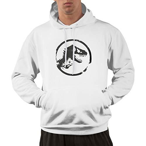 Aosepp Herren Sweatshirt Jurassic Park World Logo Nordic Winter Persönality Wild White Gr. XX-Large, weiß (Sweatshirt Jurassic Park)