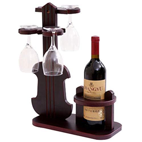 HAOJINFENG Robuster Weinglashalter Für Die Einfache Demontage Und Montage Von Hölzernen Weinregalen Zu Hause, In Der Bar, Im Büro