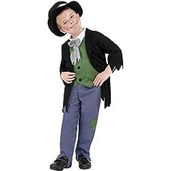 Traje de mendigo victoriano disfraz pobre atuendo infantil carnaval