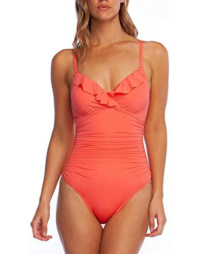 Ralph Lauren Lauren Damen Badeanzug Korallenriff Rüschen Einteiler Gr. 44 -