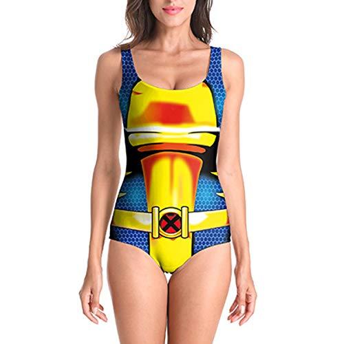 adeanzug Damen kostüm Kleidung v-Ausschnitt einteiliges Badeanzug Swimwears Strand badeanzüge rückenfreie Badeanzug für Frauen,C-L ()