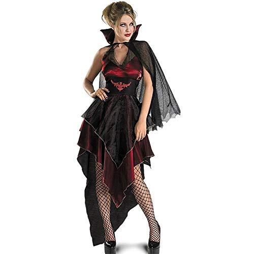 Böse Kostüm Zombie Kinder - XUDSJ Halloween,Lack Kleid,hexenkostüm, Halloween Gruselig Kostüm Zombie Maskerade Kostüm Böse Schwarze Gaze Unregelmäßiges Kleid Party Dekoration (Color : Black, Size : One Size)