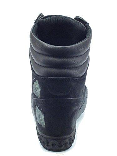 Mercante di Fiori GN07 Black, Damen Stiefel & Stiefeletten  Schwarz Nero Black