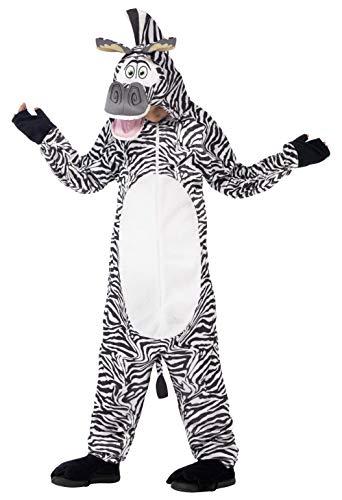 Smiffys Kinder Unisex Marty das Zebra Kostüm, All-in-One mit gepolstertem Kopf, Madagascar, Größe: S, 20486 (Marty Das Zebra Kinder Kostüm)