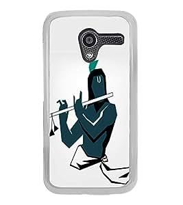 FUSON Graphic Krishna Playing Basuri Designer Back Case Cover for Motorola Moto X :: Motorola Moto X (1st Gen) XT1052 XT1058 XT1053 XT1056 XT1060 XT1055