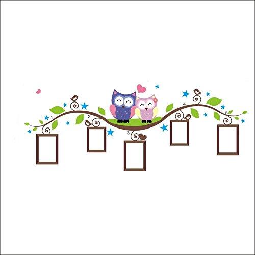Clest F & H Adesivo da parete gufo LOVE portafoto fai da te famiglia Decor per la stanza dei bambini