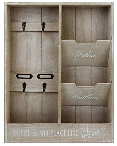 Mayfield Living Wandorganizer Briefablage Holz Schlüsselbrett Flur Diele Büro Küche 48x36x7