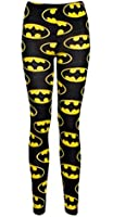 Ladies Celeb Batman Printed Full Length Leggings, SM 8-10