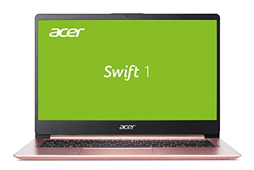 Acer Swift 1 (SF114-32-P6SW) 35,6 cm (14 Zoll Full-HD IPS matt) Ultrabook (Intel Pentium N5000, 8 GB RAM, 256 GB SSD, Intel UHD, Win 10) roségold (Laptops Acer)