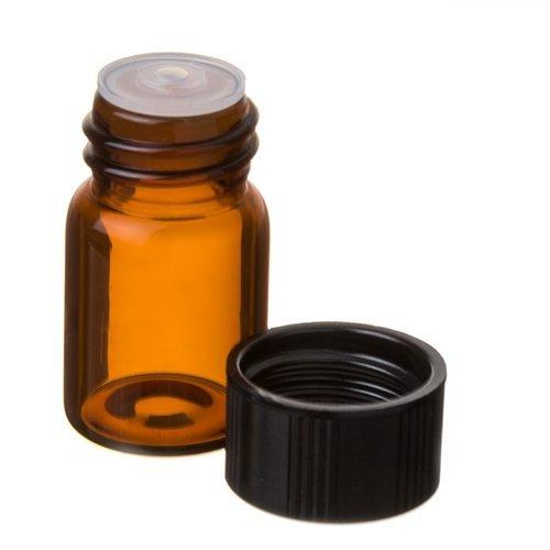 en 5/8DRAM-Bernstein Glas Flakon mit Tropfer Top für ätherische Öle–Schraube Cap w/Öffnung Reduzierstück–12Stück Bulk Viel je 2,3ml von grand Parfums (Glas Flaschen Bulk)