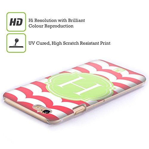 Head Case Designs Lettera R Lettere Cover Retro Rigida per Apple iPhone 7 / 8 Lettera H