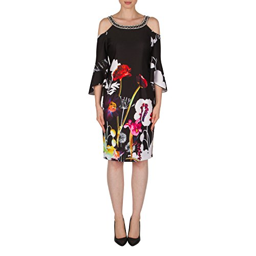 Joseph Ribkoff Bell Sleeve Floral Printed Dress Style 182704