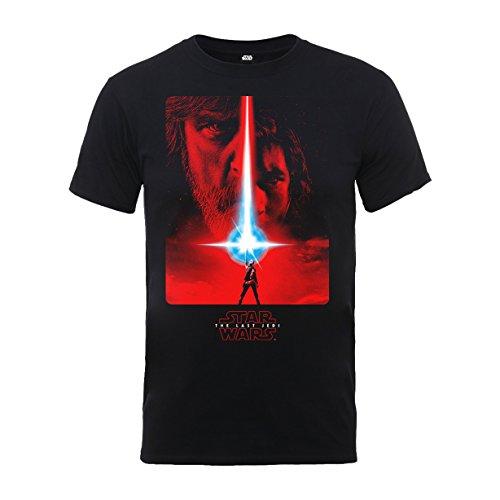 Star Wars The Last Jedi Episode 8 Poster Black offiziell Männer T-Shirt Herren (Kleidung Jedi Star Wars)