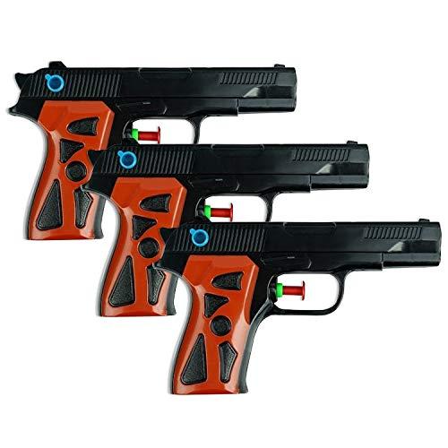 (Schramm® 3er Pack Wasserpistole Agent Wasserpistolen Wasser Pistole Water Gun Watergun Wassergewehr Wassergewehre Spritzpistole)