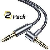 AINOPE Aux Kabel, Audio Kabel【 2 Pack 】 1.2m 3.5mm Stereo Nylon geflochtene Premium Auxiliary Aux Audio Kabel für Kopfhörer, iPods, iPhones, iPads, Home/Car Stereos und mehr(MEHRWEG)
