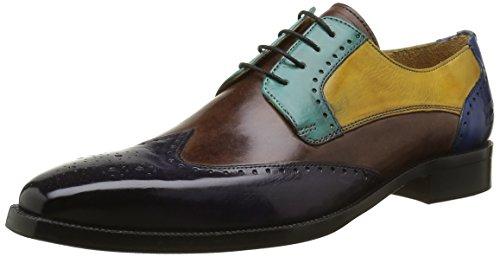 Melvin & Hamilton Jeff 14, Chaussures Lacées Homme Multicolore (Crust Melanzana Dk Brown Turq Sun E Blu Hrs)