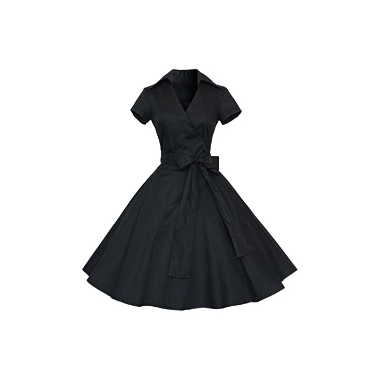 406e7a50d8 Clearance Vintage Dress 50S 60S Swing Pinup Retro Casual Housewife Party  Ball Boatneck Sleeveless Vintage Tea Dress With Belt