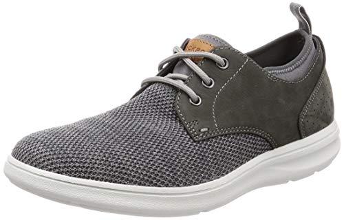 Rockport Herren Zaden Plain Toe Oxford Sneaker, Grau (Pewter Nubuck/Mesh 003), 44.5 EU Mesh-oxford