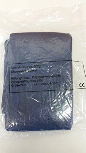 Einweg-Patientendecke Einmaldecke blau 110 x 190 cm weich wattiert- 300gr. PP-Vlies (1)