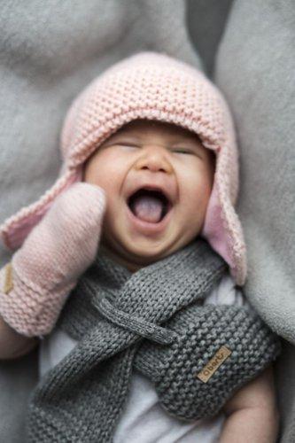 BARTS - Chaussures naissance en fourrure polaire blanc ivoire bébé fille du 0 au 6 mois Barts Blanc